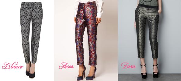 Tendencias para el oto o pantalones estampados m de moda - Que es jacquard ...